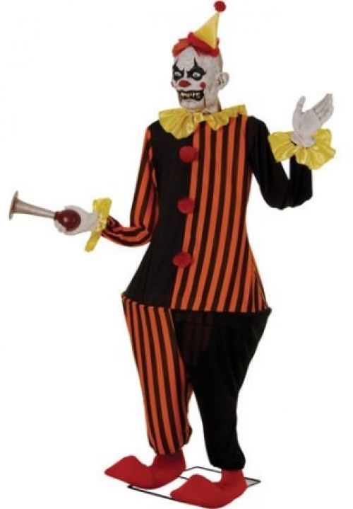 6\u0027 Life-Size Animated Evil Halloween Clown #animated #evil - animated halloween decorations