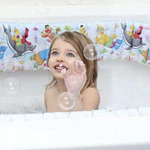 Sesame Street Inflatable Bathtub Bumpers: Safety Proof That Hard, Slippery  Bathtub With These