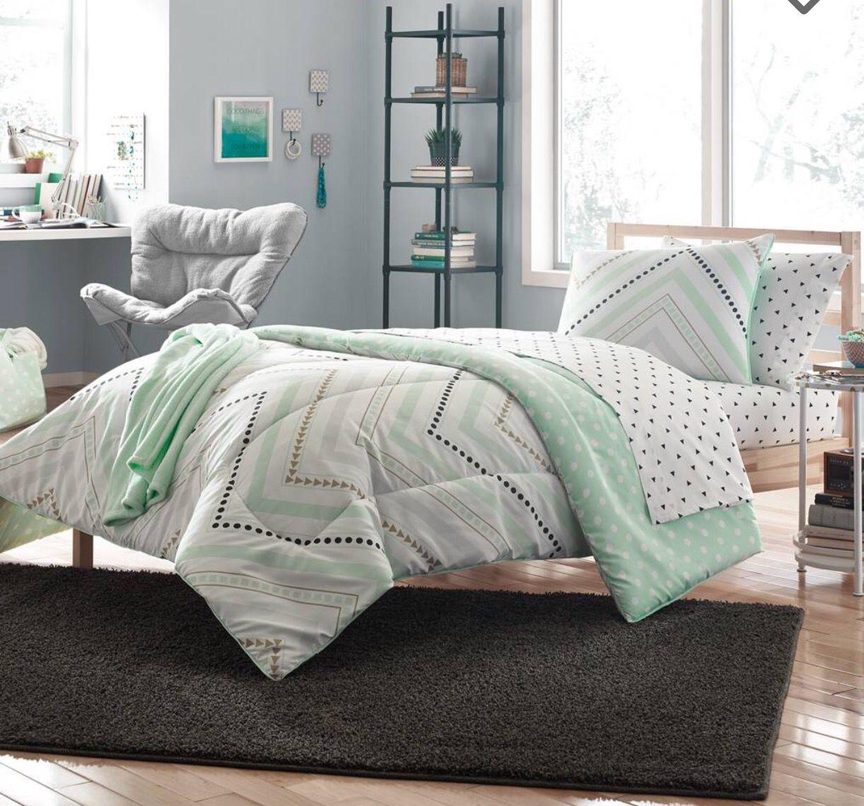 Ashland S New Comforter Set Color Pallette Mint Green Black