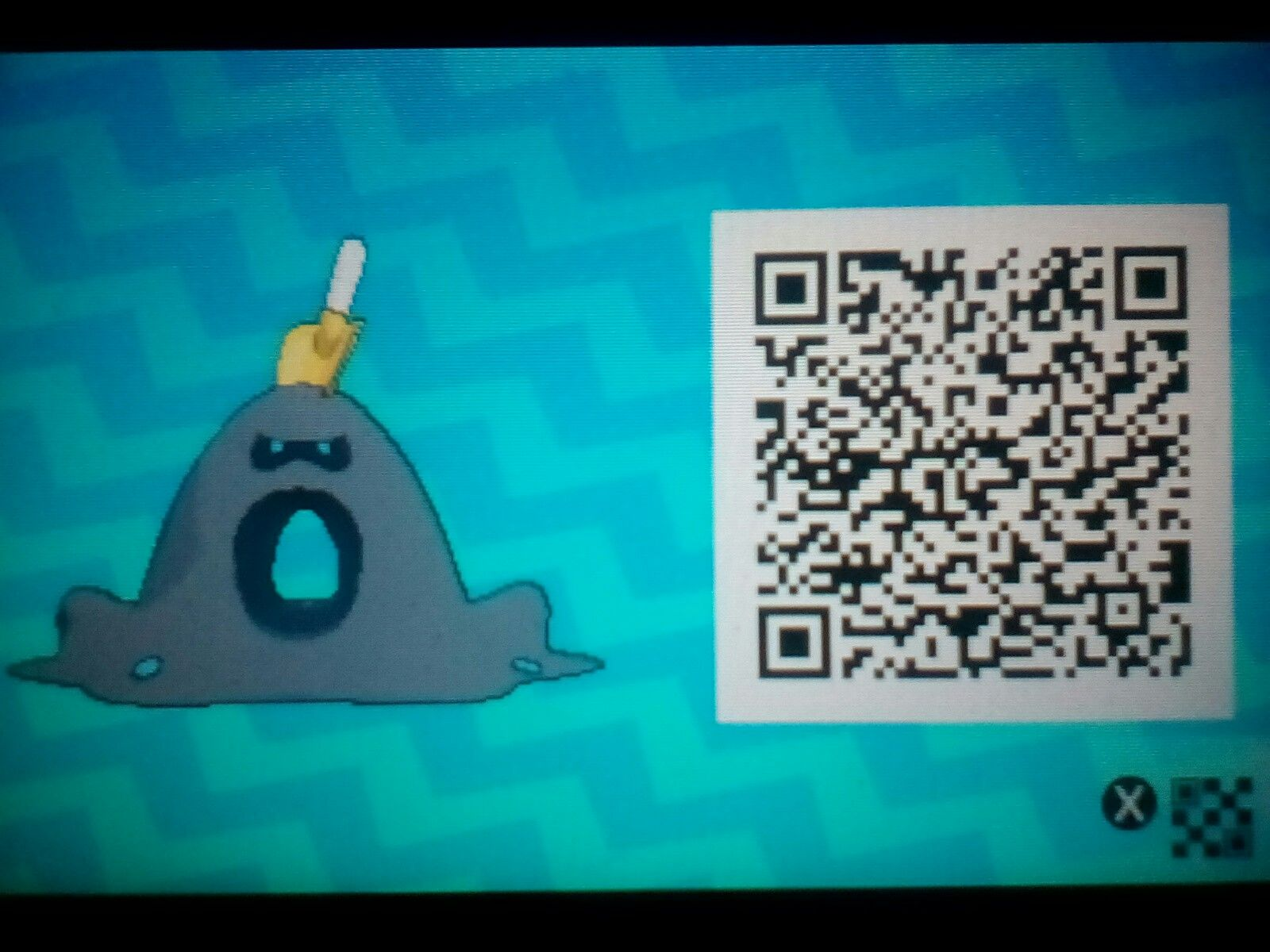 One of my friends let me scan his Shiny Sandygast QR Code