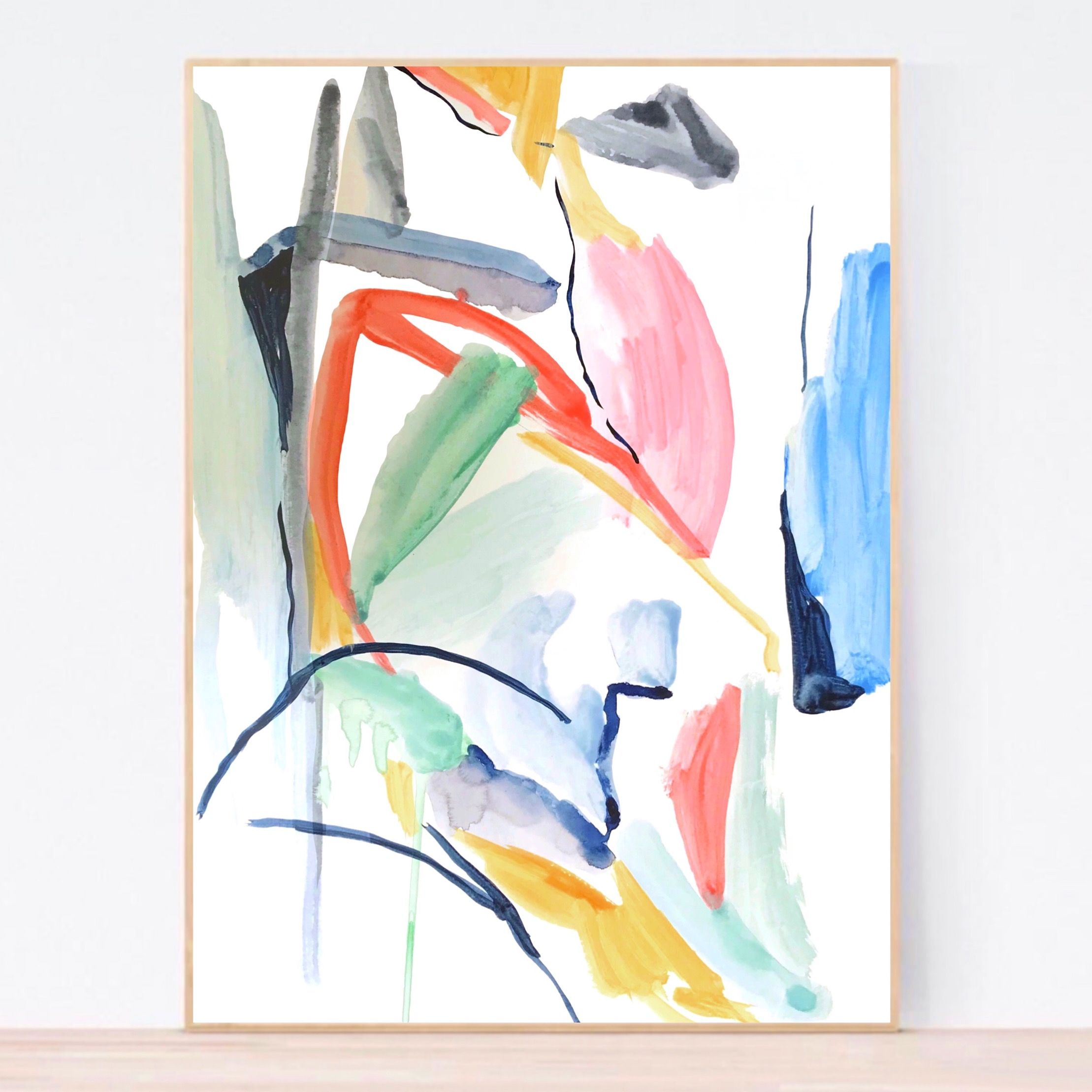 Formation Joy Watercolour Abstract Society6Dansedelune