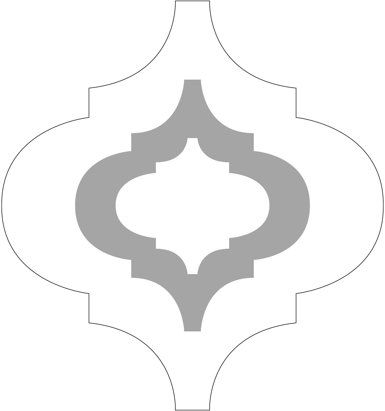 Mac Quatrefoils Abstracted Swirls Wall Stencil Allover Morocco ...