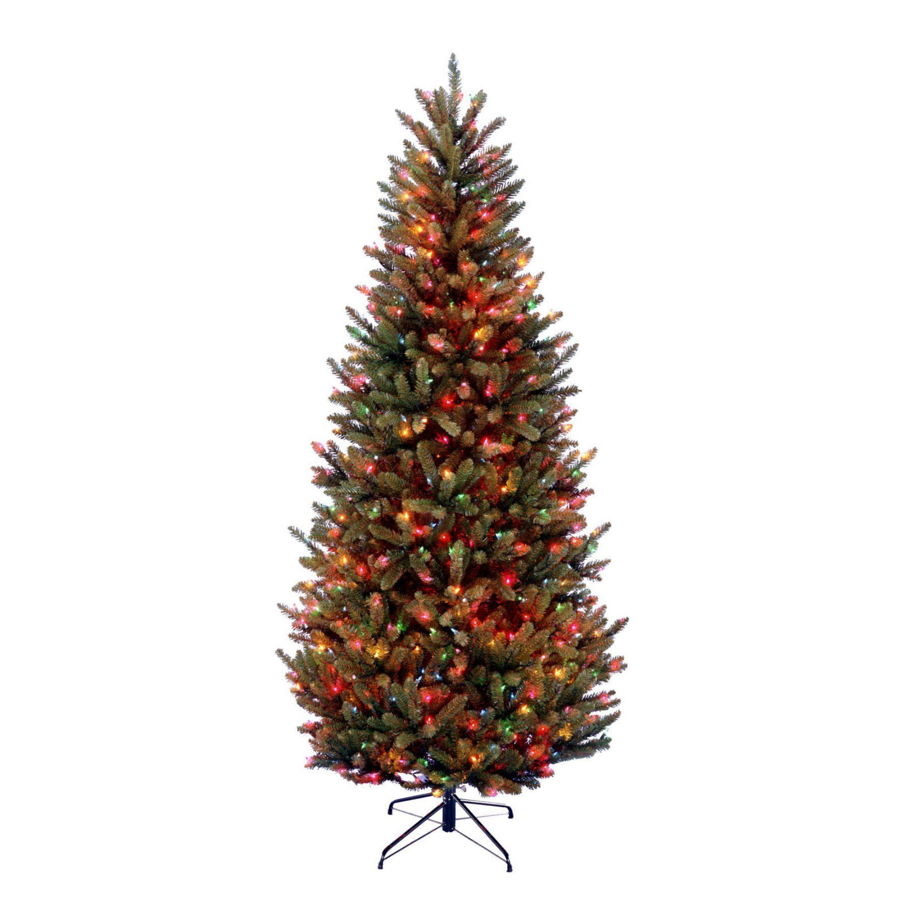 Natural Fraser Fir Slim Pre-lit Christmas Tree - NAFFSLH1-70RLO ...