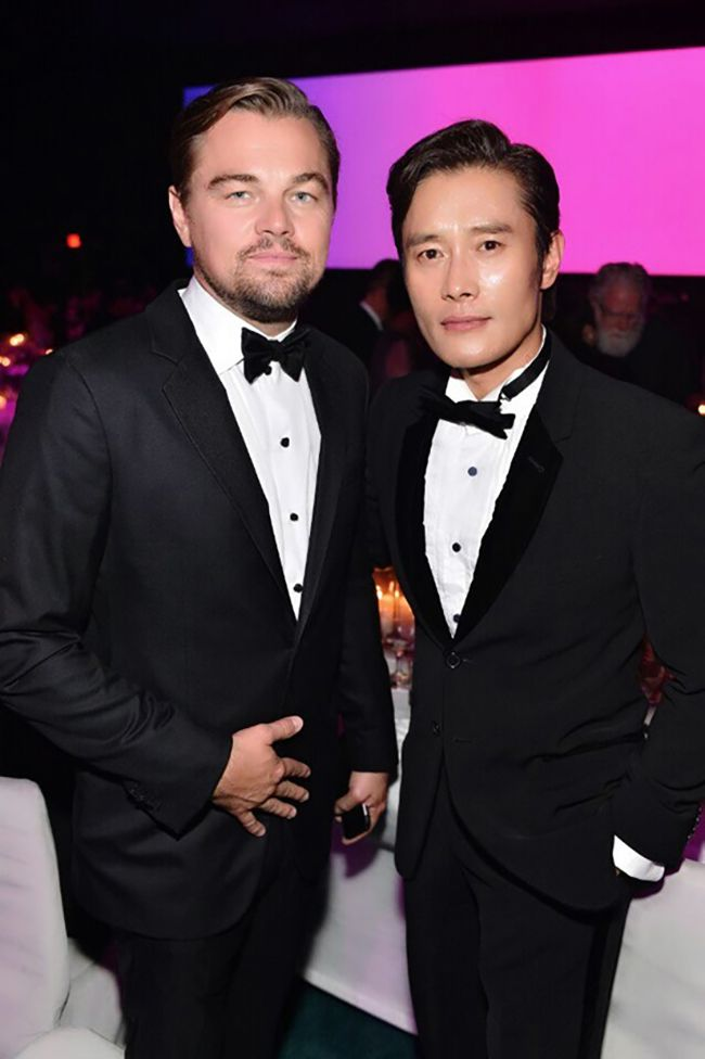 Lee Byung Hun 이병헌 with Leonardo DiCaprio at LACMA