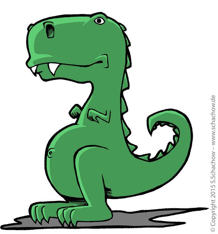 Zeichnung Von Einem Niedlichen T Rex Dinosaurier Comic Zeichnung