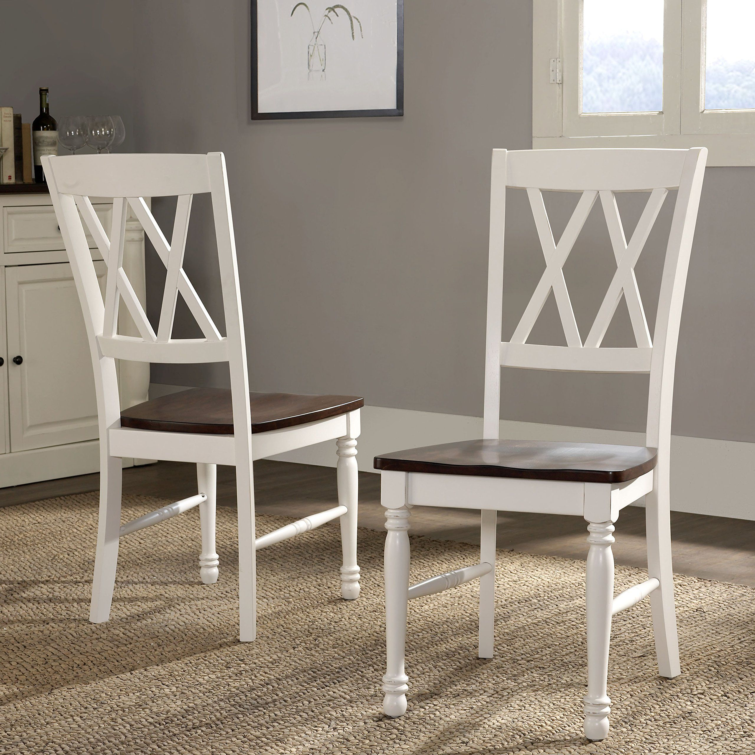 Crosley Furniture Cf501018wh Shelby Dining Chairs Set Of 2 White Learn More By Visiting The Image Link I Dining Chairs Dining Chair Set White Dining Chairs