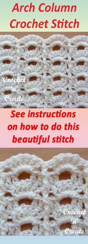 Arch Column Crochet Stitch Written Tutorial | patterns | Pinterest ...