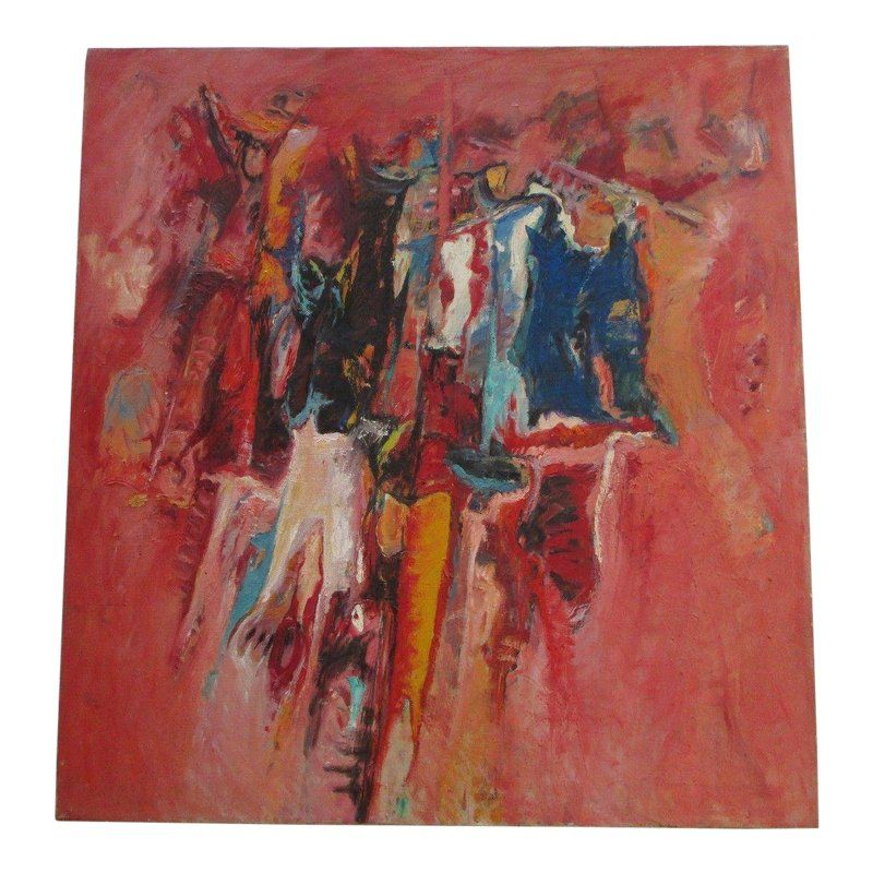 Large Mystery Painting Abstract Expressionism Non