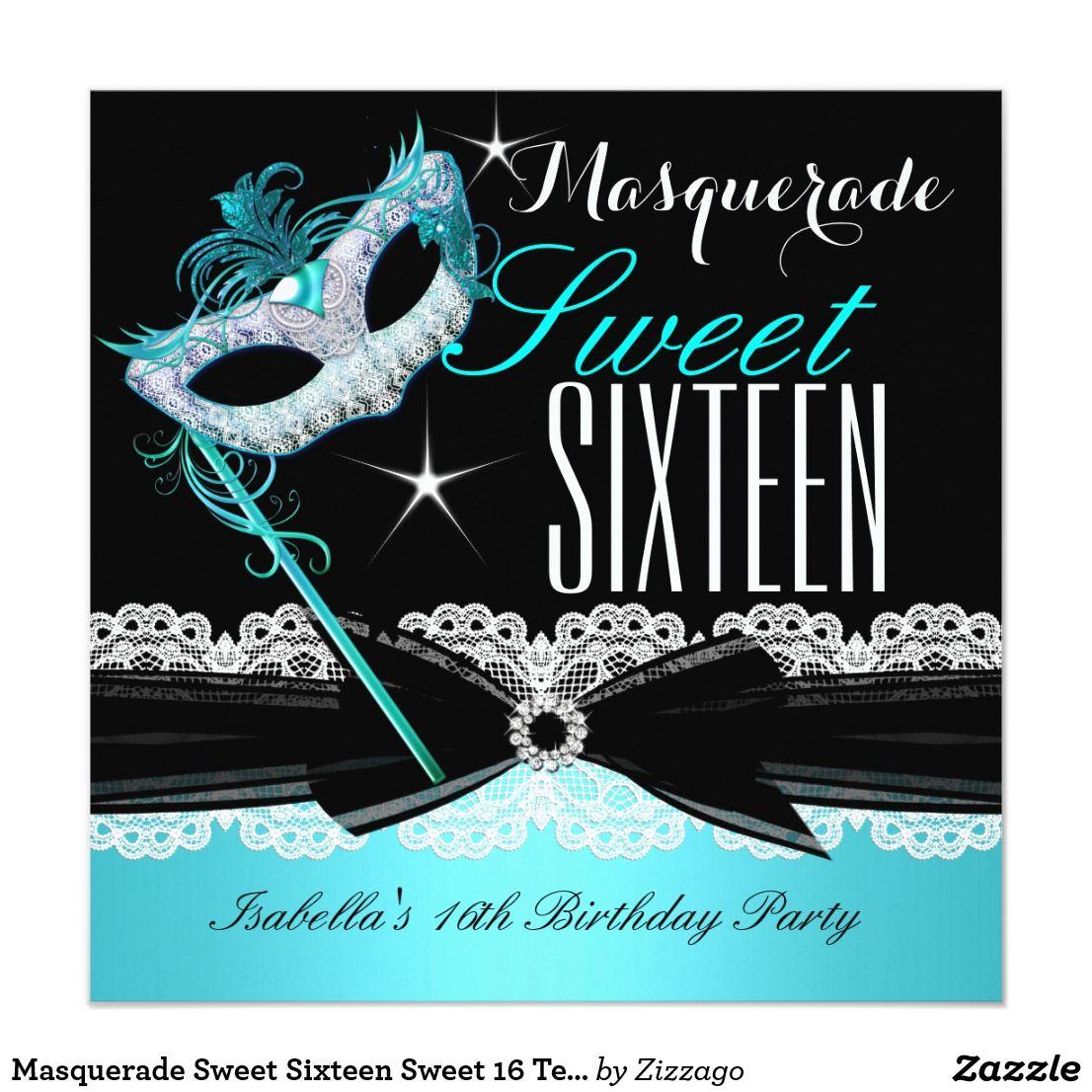 Masquerade Sweet Sixteen Sweet 16 Teal Blue 3   MASQUERADE SWEET ...