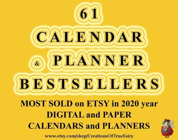 Best sellers CALENDARS & PLANNERS Most popular bestseller digital calendar planner and paper calenda