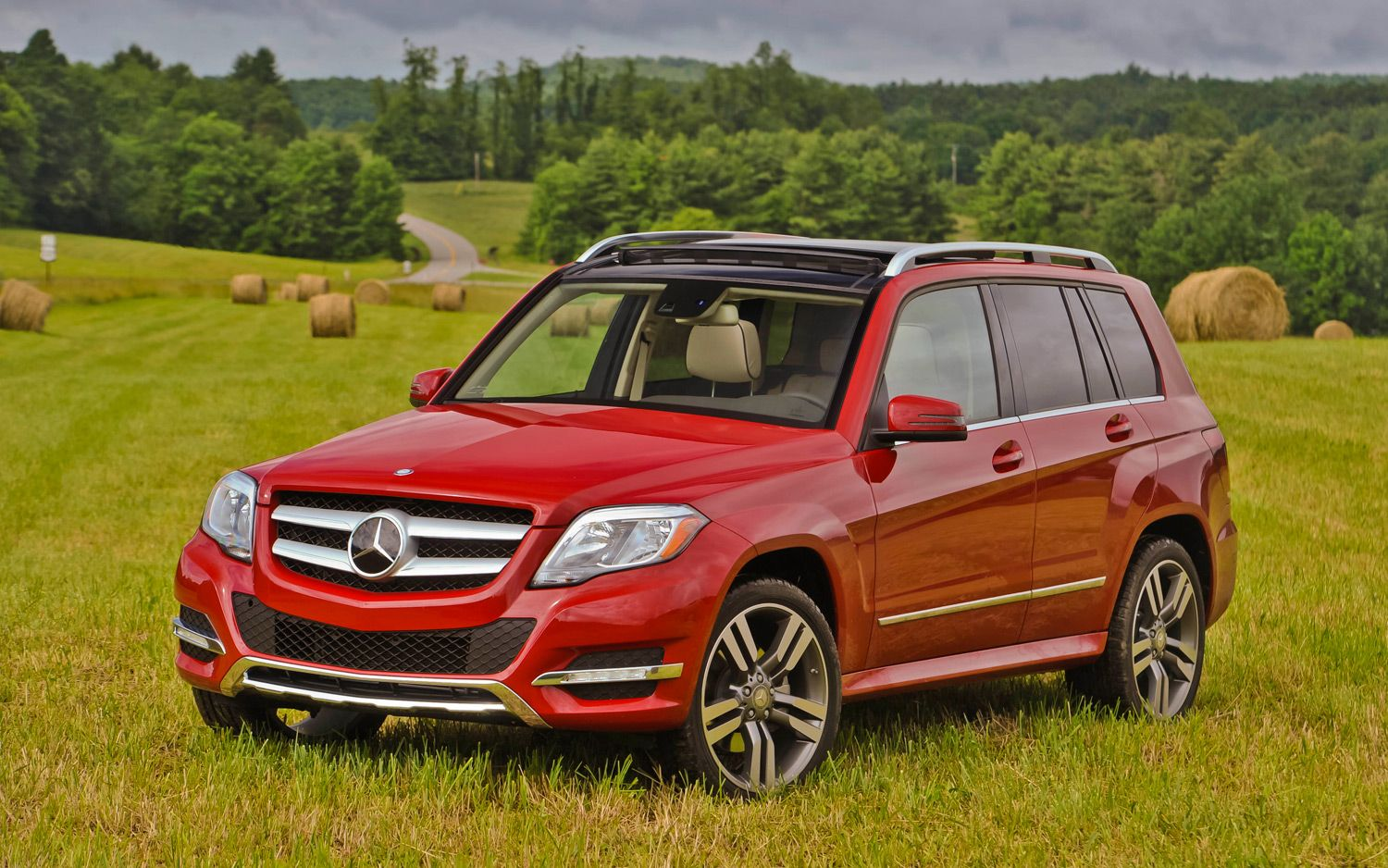 2017 Mercedes Glk 350 Just Got This Tonight In Gorgeous Red Color As