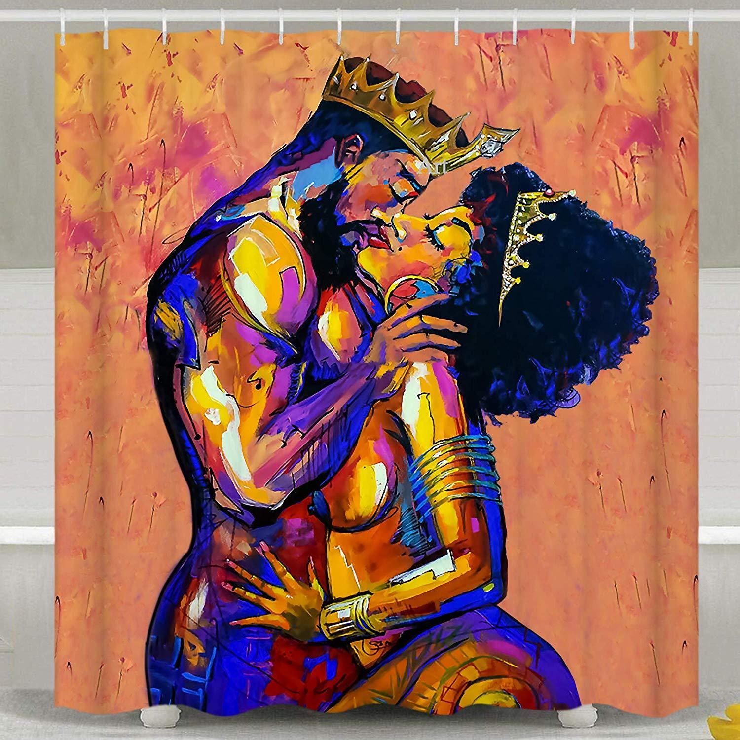 King And Queen Couple Shower Curtain Shower Curtain Couple Shower Curtains