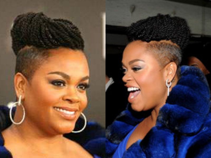 The Hair Evolution Of Jill Scott Braids With Shaved Sides Shaved Side Hairstyles Half Shaved Hair
