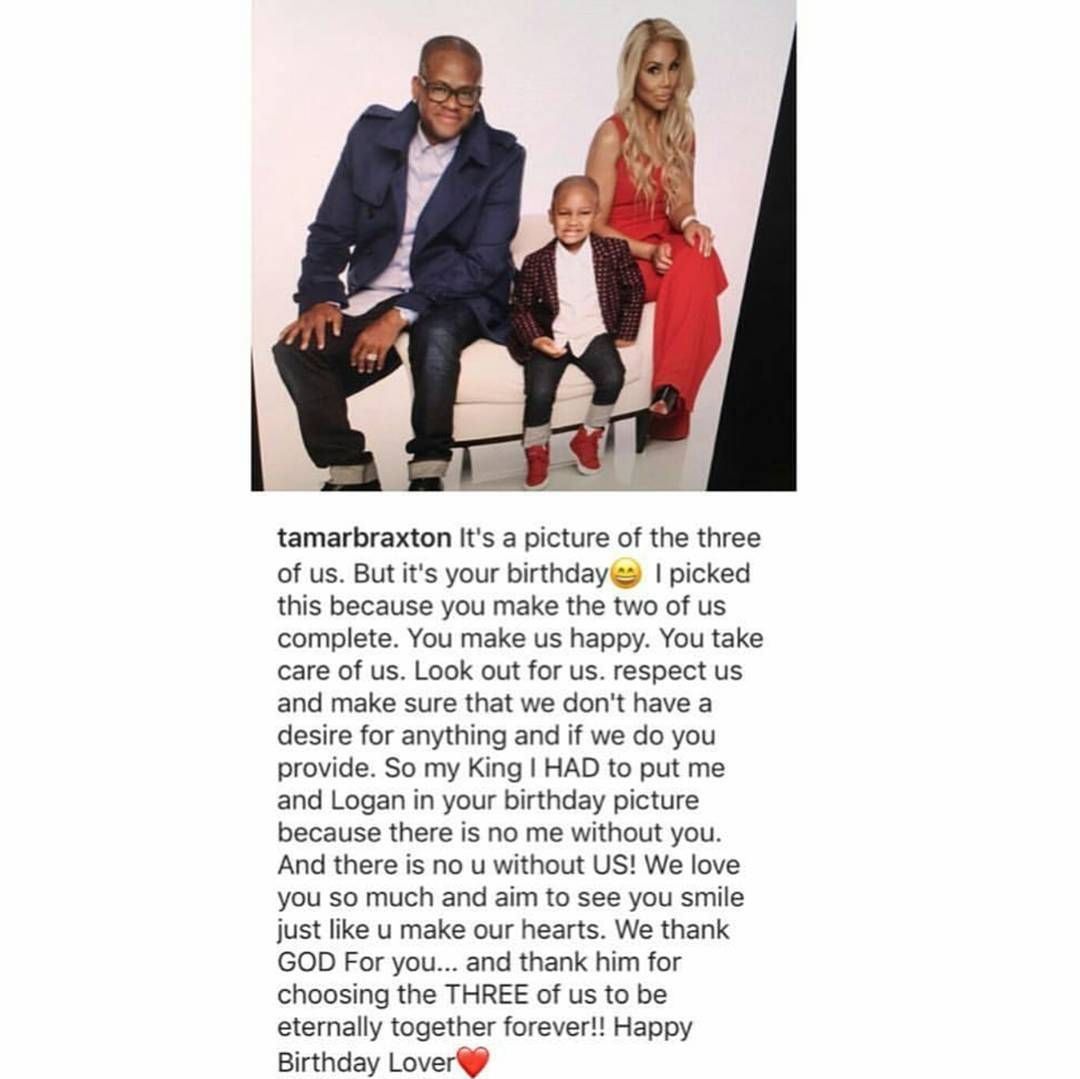 R&B reality star send love to her husband #VincentHerbert on his birthday.