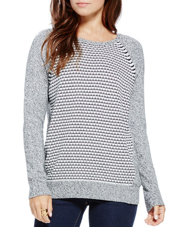 Two by Vince Camuto Melange Contrast Sweater