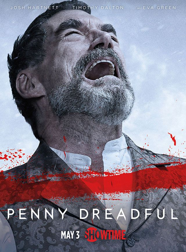 Exclusive: Timothy Dalton is in pain in new 'Penny Dreadful' character posters. Plus: Sembe looks to the heavens
