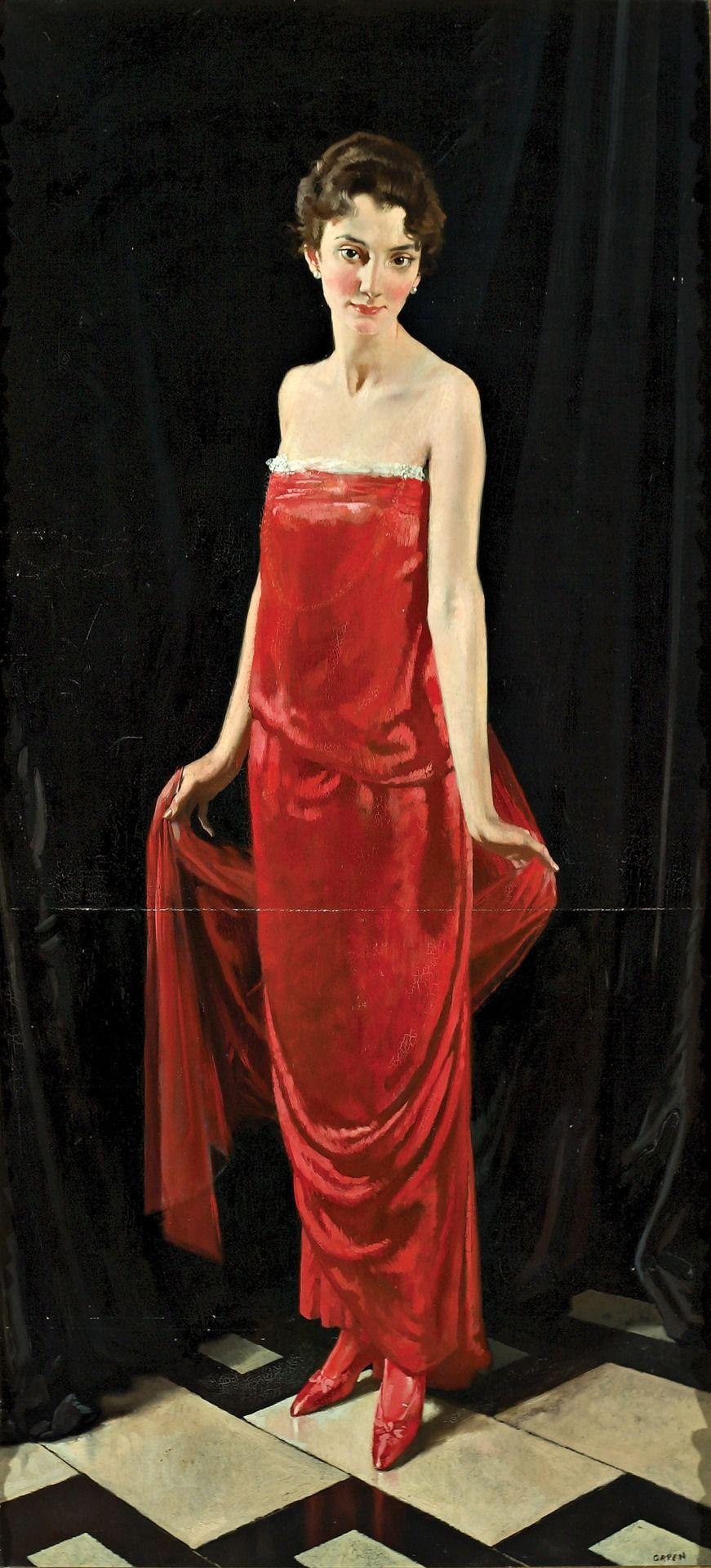 Madame Errazuriz, 1915 Sir William Orpen (1878-1931)
