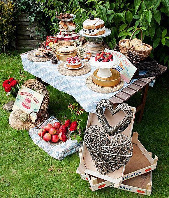 Mesa de dulces campestre bodas pinterest fiestas en for Ideas originales para el jardin