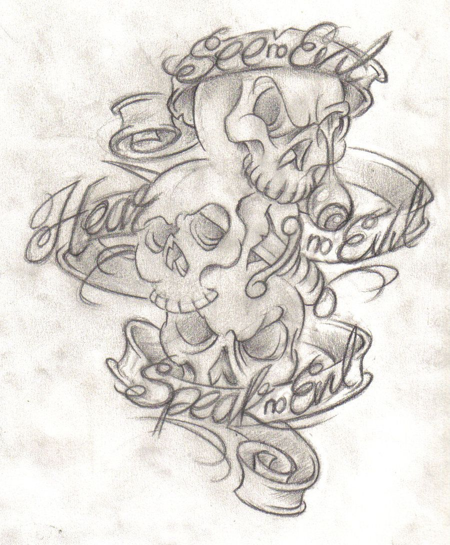 Stencil Evil Tattoo Designs : stencil, tattoo, designs, Future..., Tattoo, Designs,, Drawings,