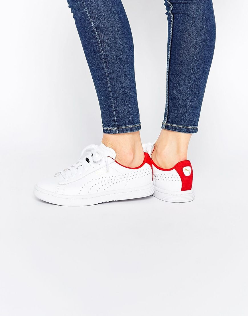 dca46cd96eee Puma+Court+Star+Crafter+White Red+Trainers