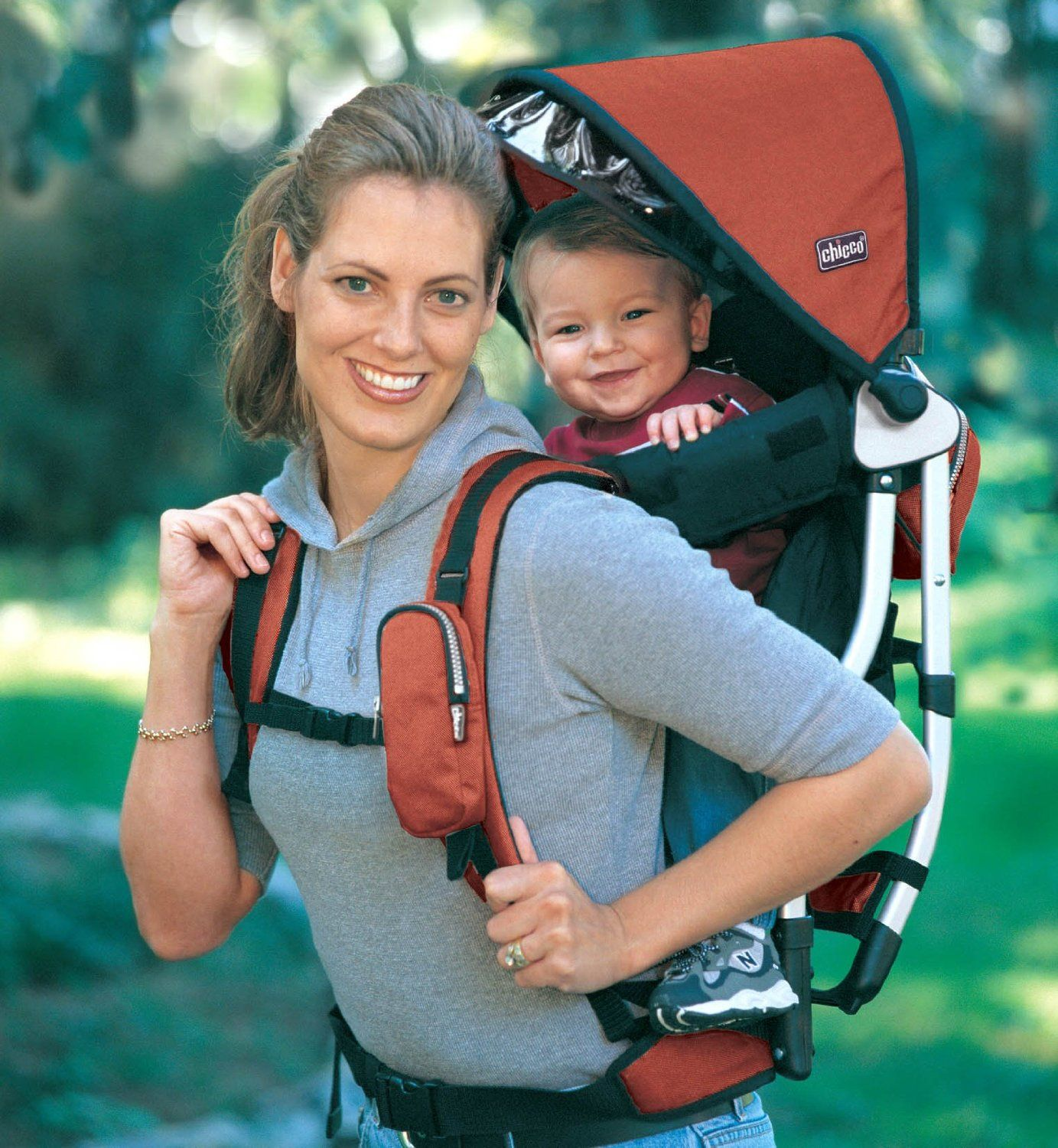Never run or jog while carrying a baby in any backpack-style ...