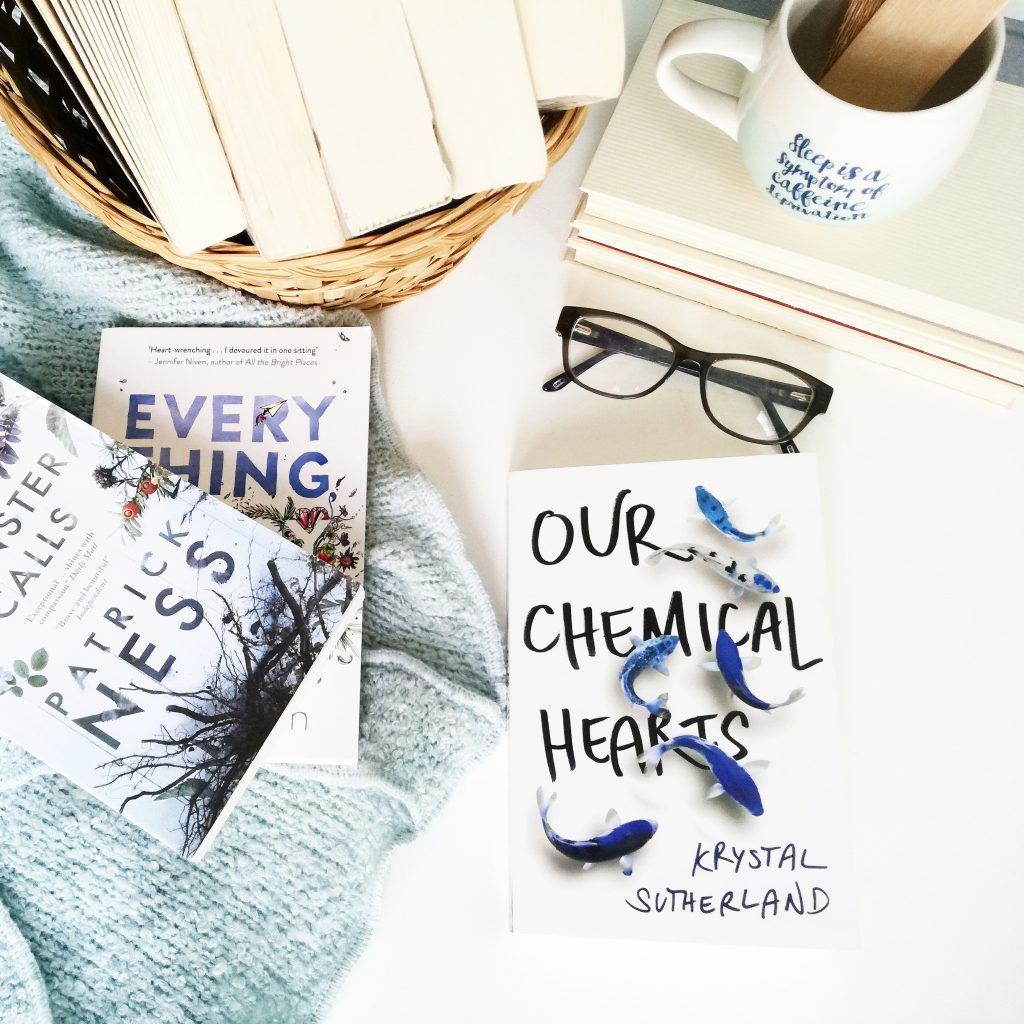 OUR CHEMICAL HEARTS BY KRYSTAL SUTHERLAND   Book blogger. Book aesthetic. My books