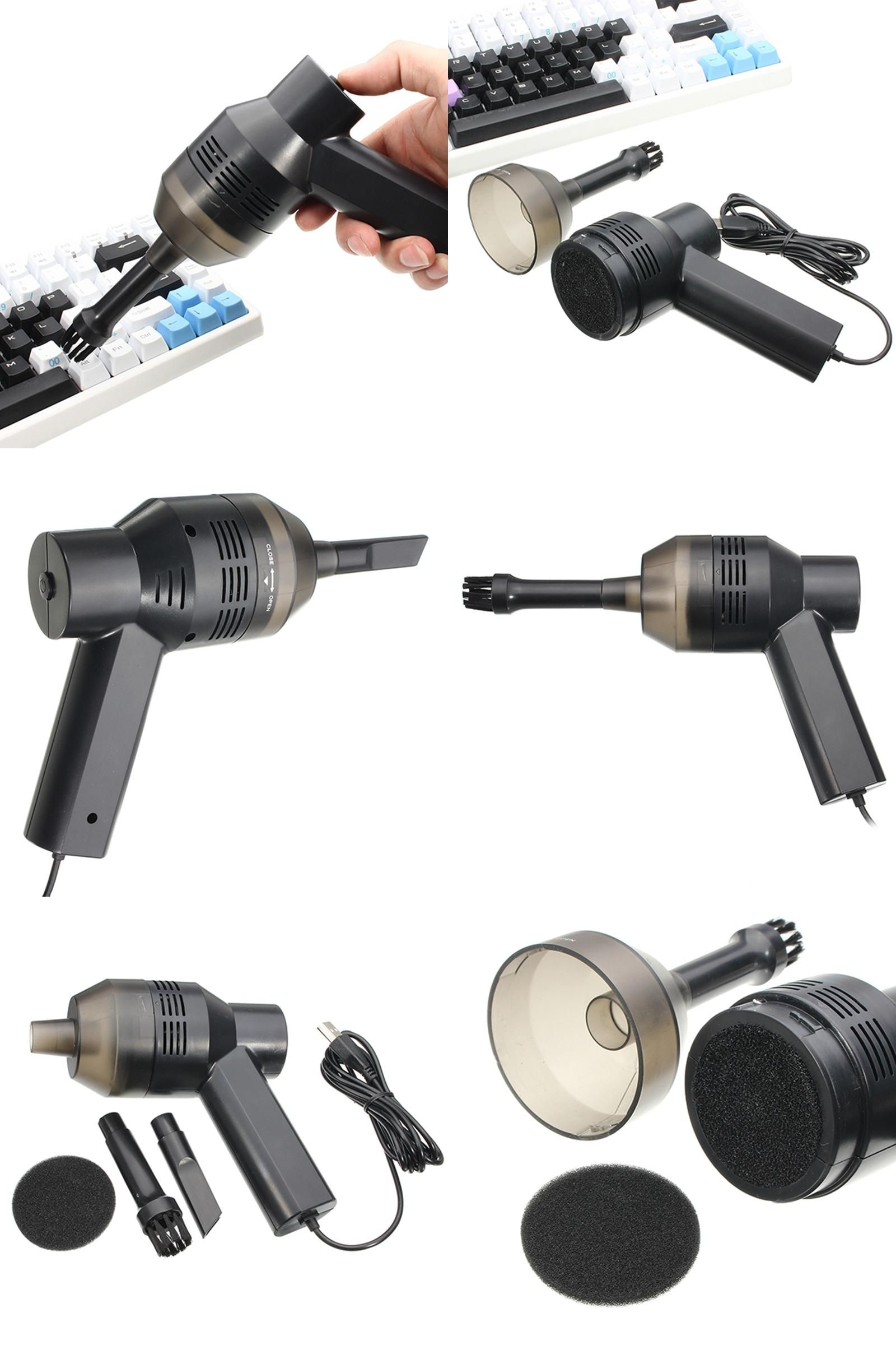 Visit To Buy Mini Usb Vacuum Cleaner Portable Computer Keyboard Brush Nozzle Dust Collector