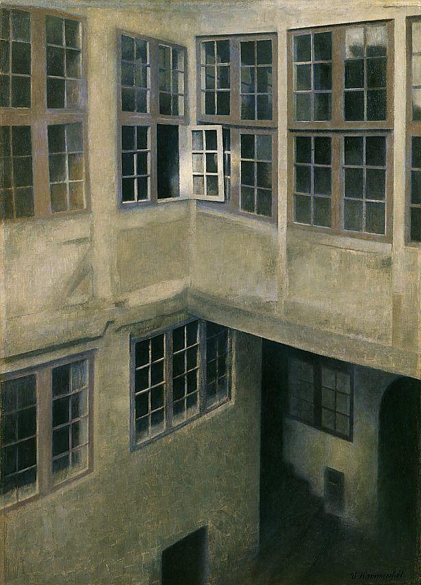vilhelm hammershøi - The Courtyard at 30 Strandgade 1899, via www.hypo-kunsthalle.de