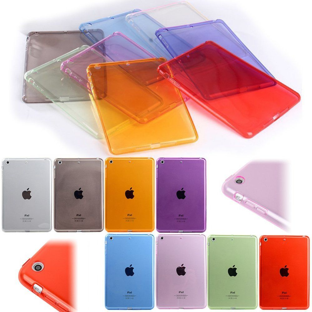 *Sale* Smart Cover Transparent Rubber TPU Back Cover Case for Apple iPad 2//3//4