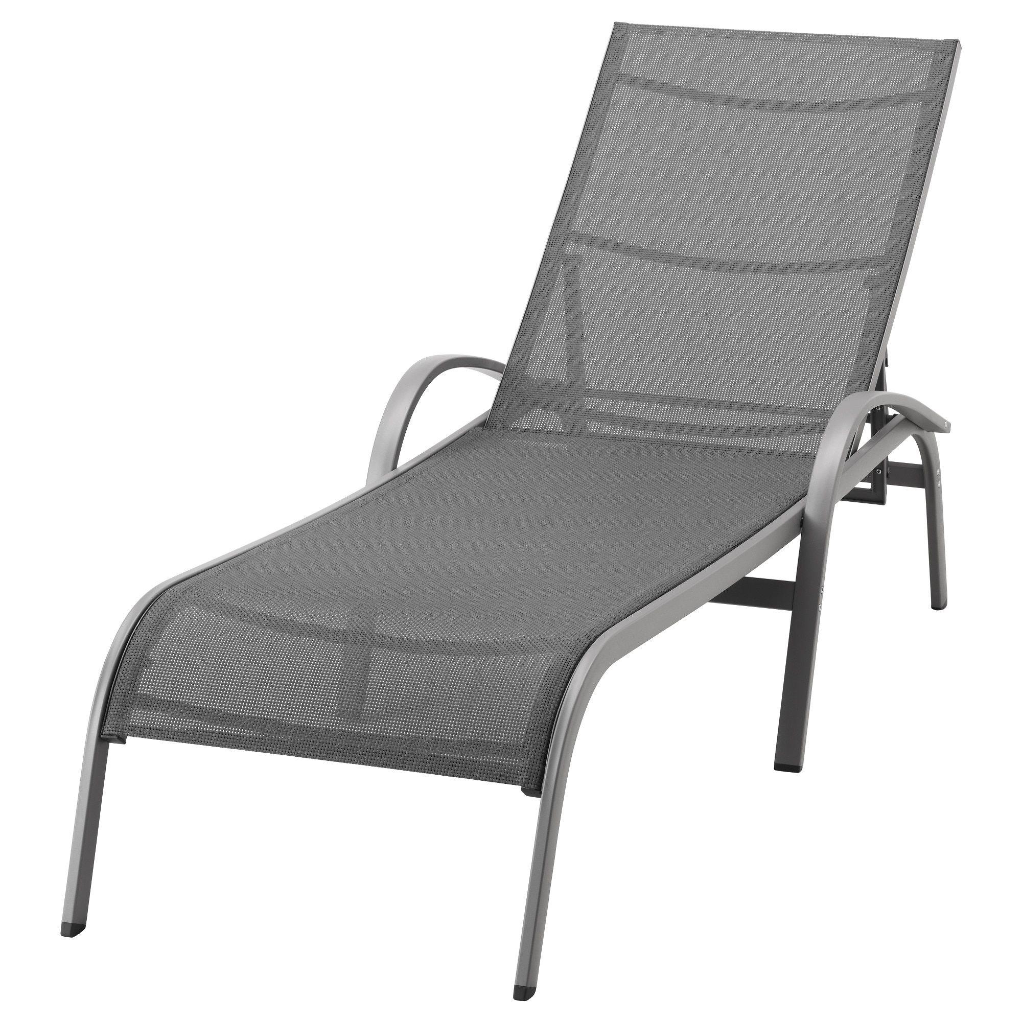TORHOLMEN Chaise lounger gray IKEA Outdoor lounge