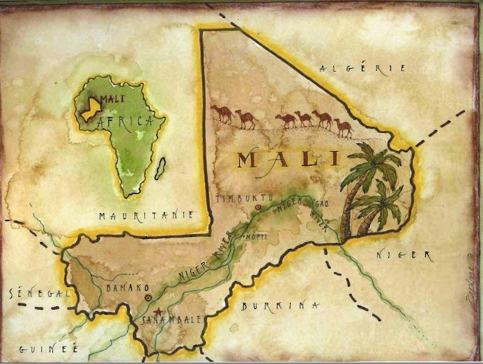 West African Empires Map | Map of Sanambélé, Mali, West Africa ...