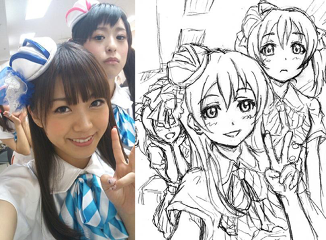 Turning Real People Into Anime Art Anime Characters Inspiration Drawing Anime Vs Real Life