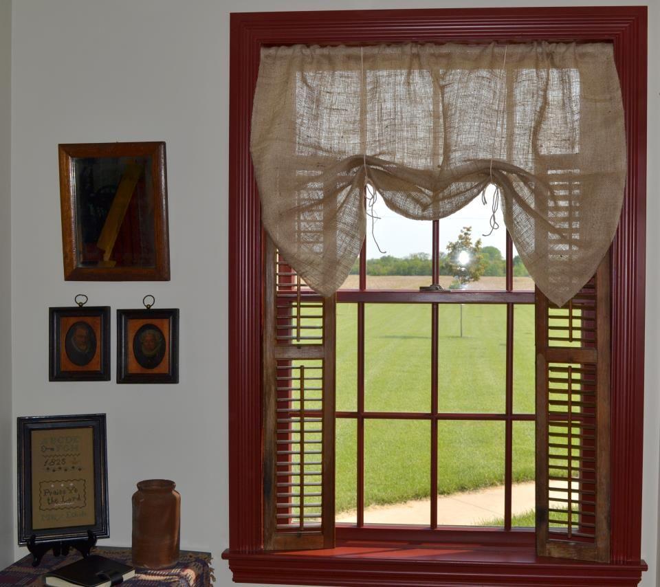 Burlap kitchen curtains no sew - No Sew Burlap Curtains No Directions