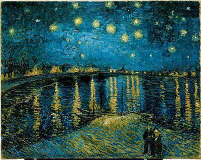 Mj No Twitter فان جوخ أن تجعل اللوحة تتكلم تلك هي الحقيقة لوحة ليلة مرصعة بالنجوم على نهر الر Starry Night Van Gogh Gogh The Starry Night Van Gogh Art