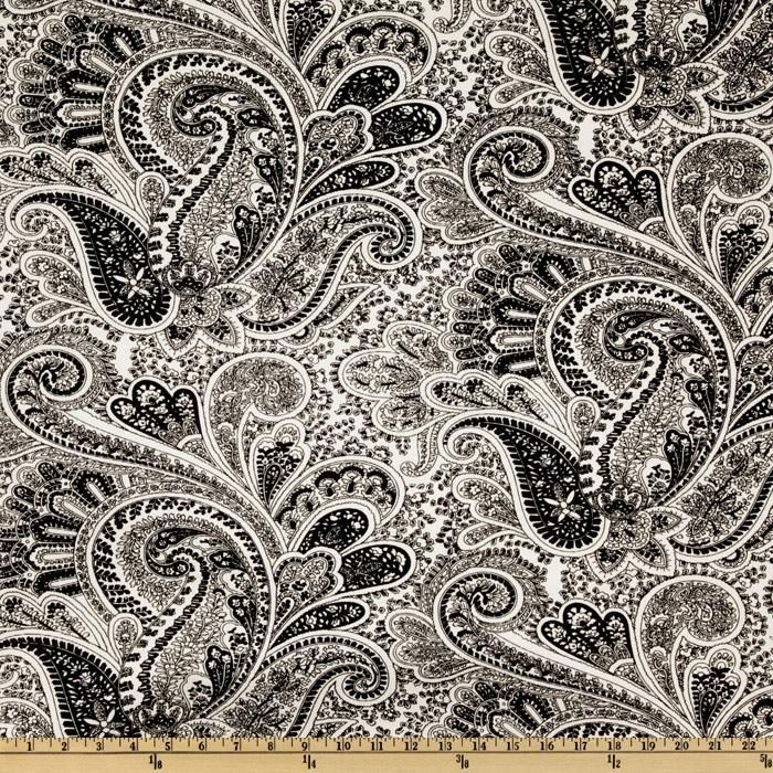 Awesome For The Chairs: Premier Prints Paisley Black/White