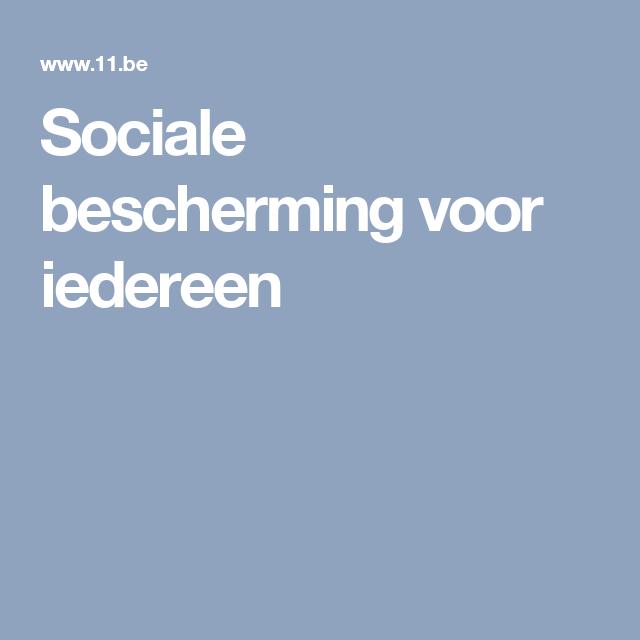 Sociale bescherming voor iedereen