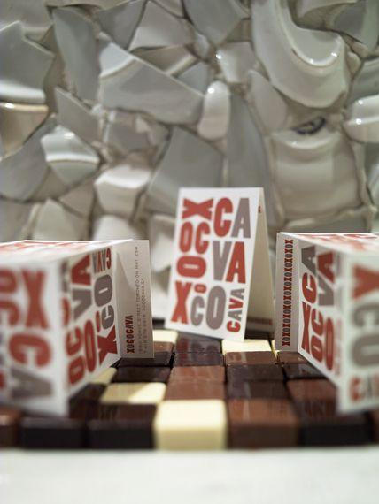 xoco cava - Toronto. Branding by Concrete Design, interior by 3rd UNCLE design. Great idea for backsplash, broken dishes.