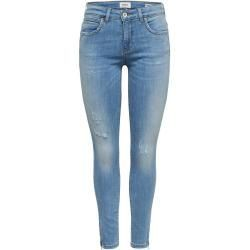 Only Kendell Reg Ankle Zip Jeans In Skinny Fit Skinny Fit Jeans Damen Blau Only -  Only Kendell Reg...