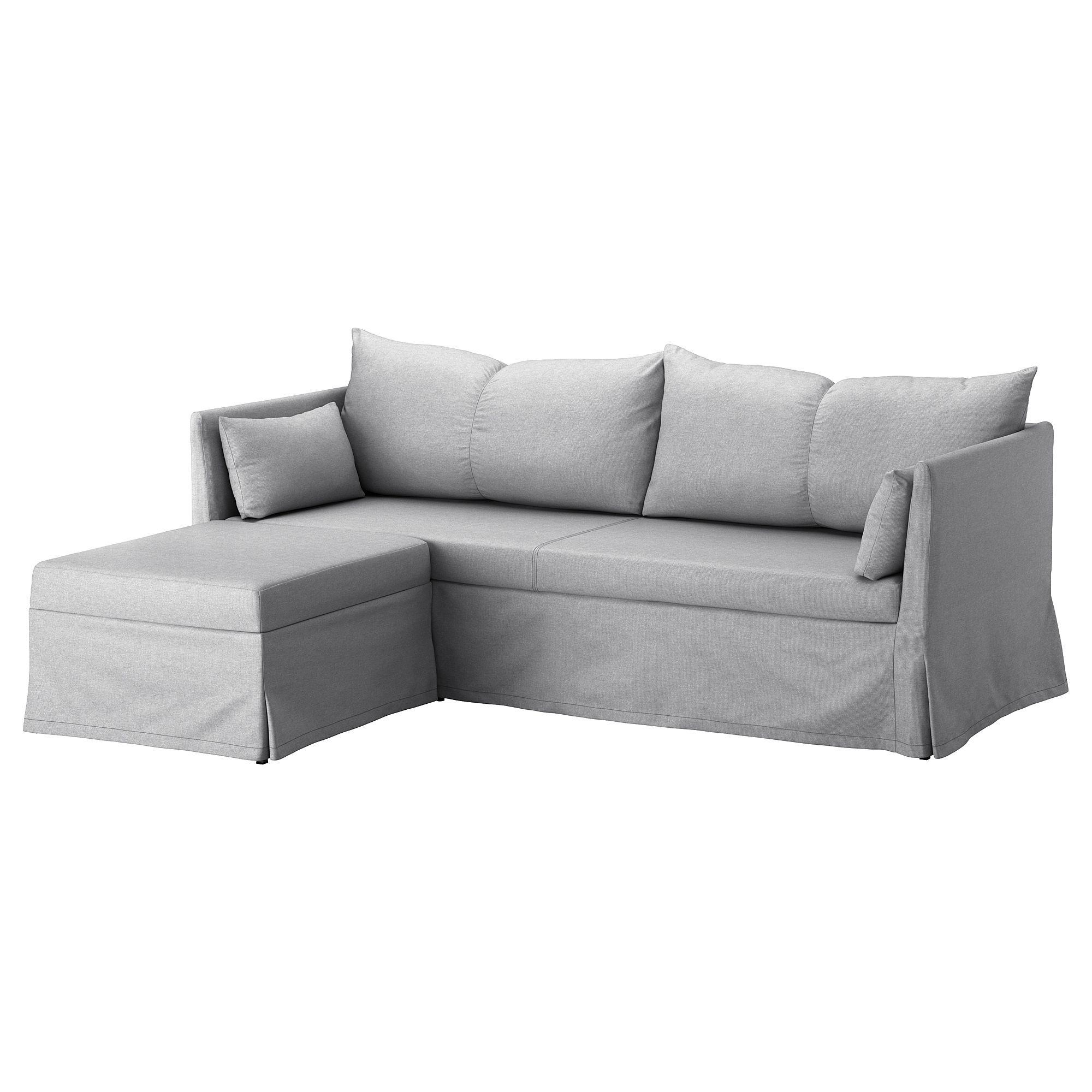 Ikea Sandbacken Corner Sofa Bed Frillestad Light Gray In