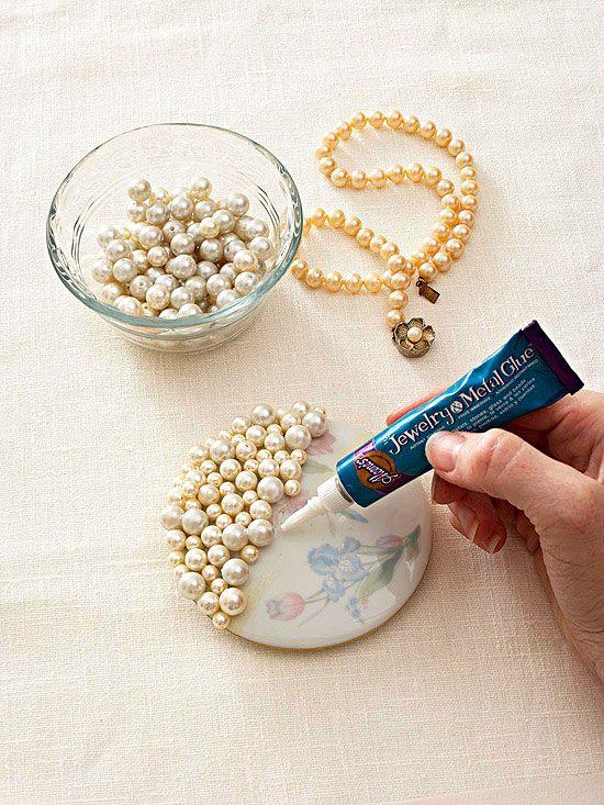 Alhajero decorado con perlas artificiales | DIY inspiration ...