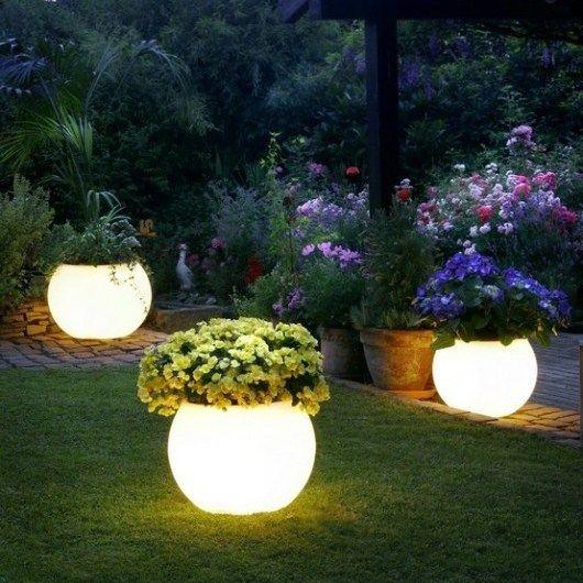 Diy Light Up Plant Pots Easy Backyard Budget Backyard Diy Backyard