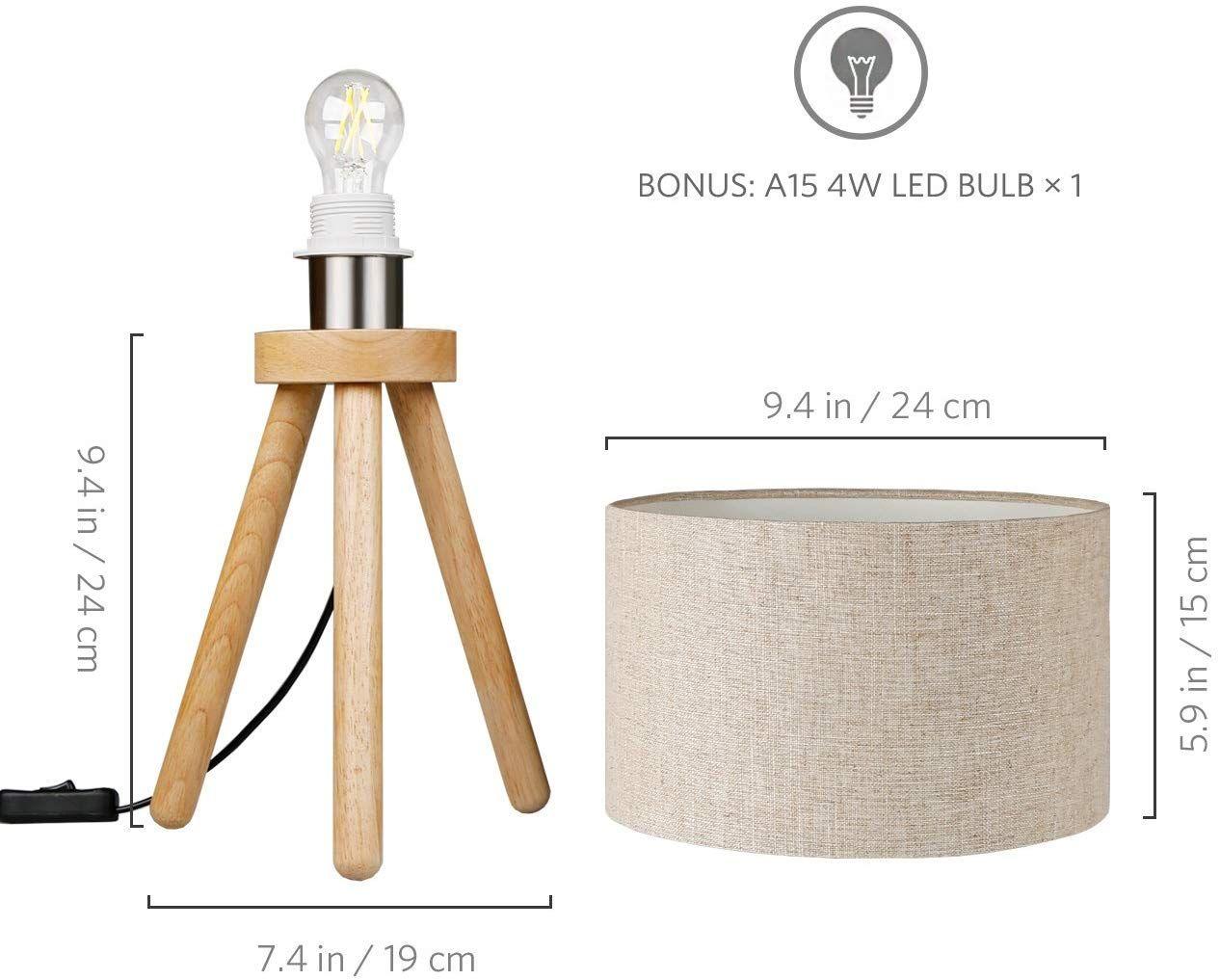 Tomons Nachttischlampe Minimalistischer Stil Geeignet Fur Schlafzimmer Mit Warmer Gemutlicher Atmosphare 4 W Led Im Lieferumfang E Led Nachttischlampe Lampe