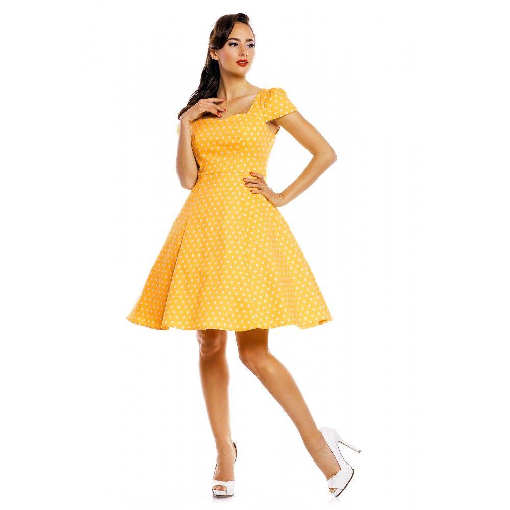 Claudia Flirty Fifties Style Dress in Yellow | Wedding Ideas | Pinterest