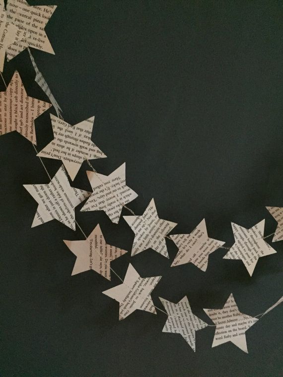 Star Nordic Garland   Nordic White Christmas star   Nursery