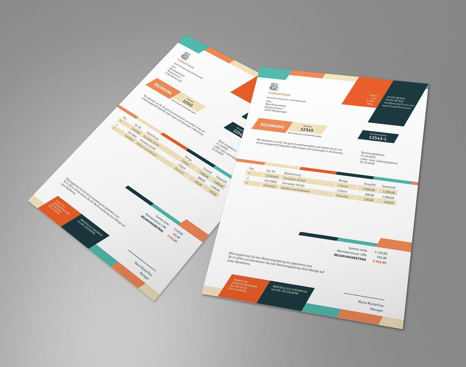 Rechnungsvorlagen Lieferscheine Angebote Muster Herunterladen Rechnungsvorlage Rechnung Vorlage Angebot Muster