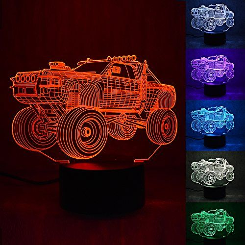 Wosports 3d Led Night Lampmulti Color Change Button Led Desk Table Light Lamp Bedroom Children Room Decorativ Decorative Night Lights Light Table Bedroom Lamps