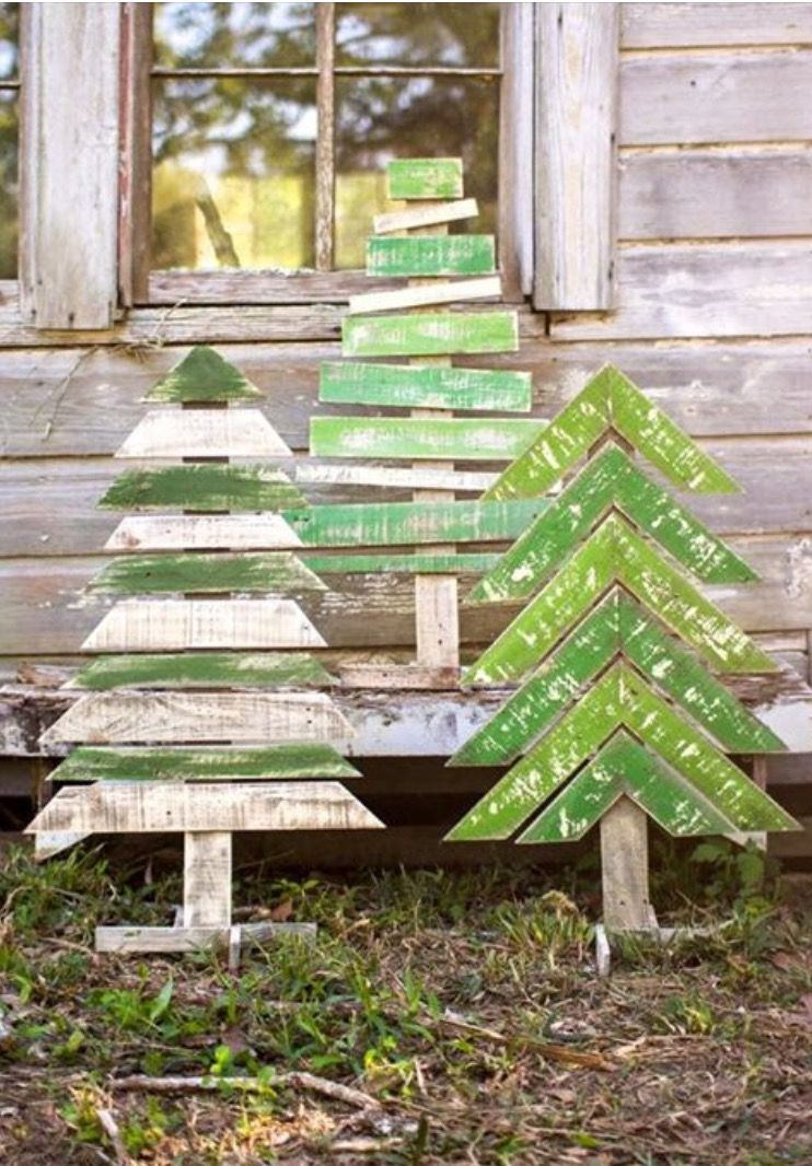 Stick Christmas Tree Kids Trees Outdoor Wooden Decorations Decor