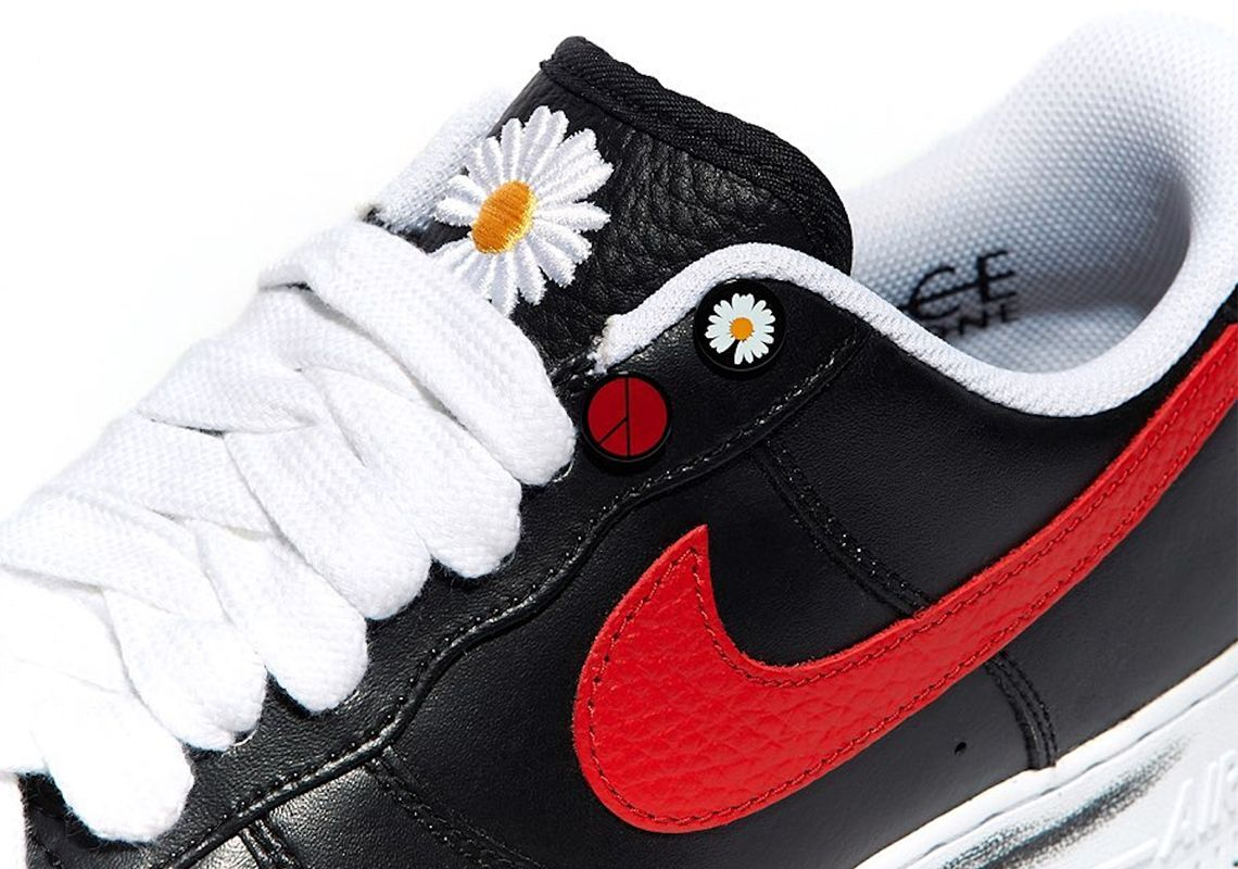 Peaceminusone Nike Air Force 1 Para Noise Korea Exclusive Red Swoosh Sneakernews Com Nike Nike Air Force Nike Air