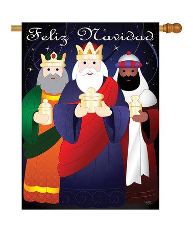 Love this 'Feliz Navidad' Three Kings Flag on #zulily! #zulilyfinds