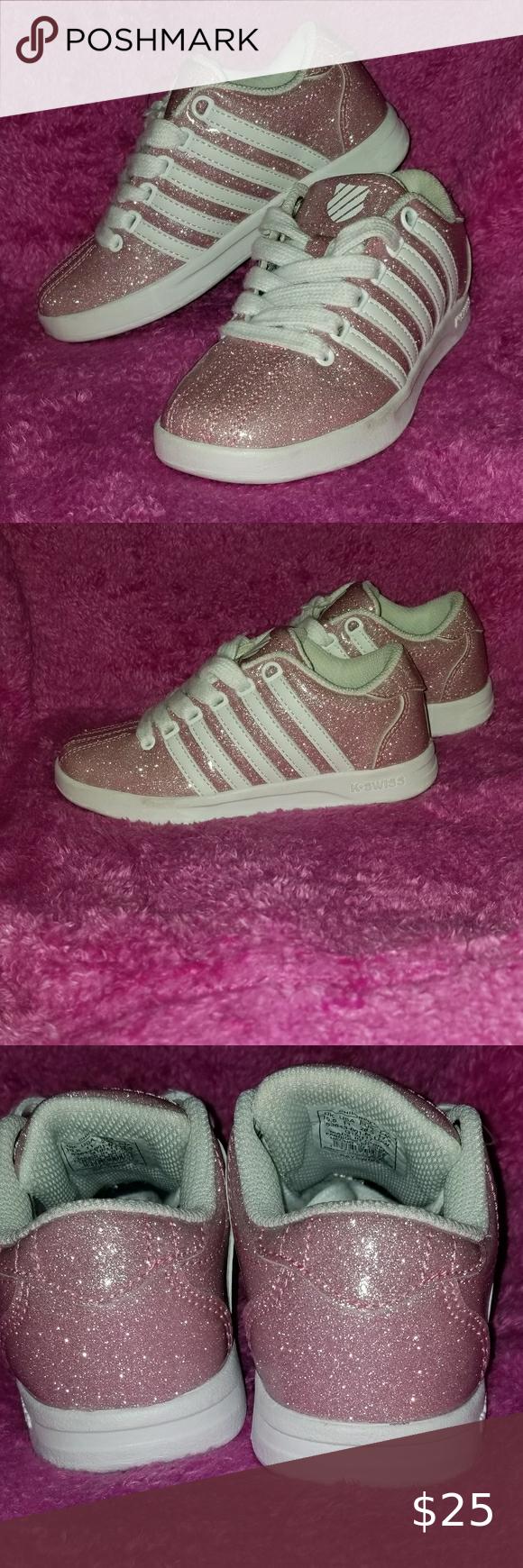 Light Pink Girls K-Swiss Bow Sneakers